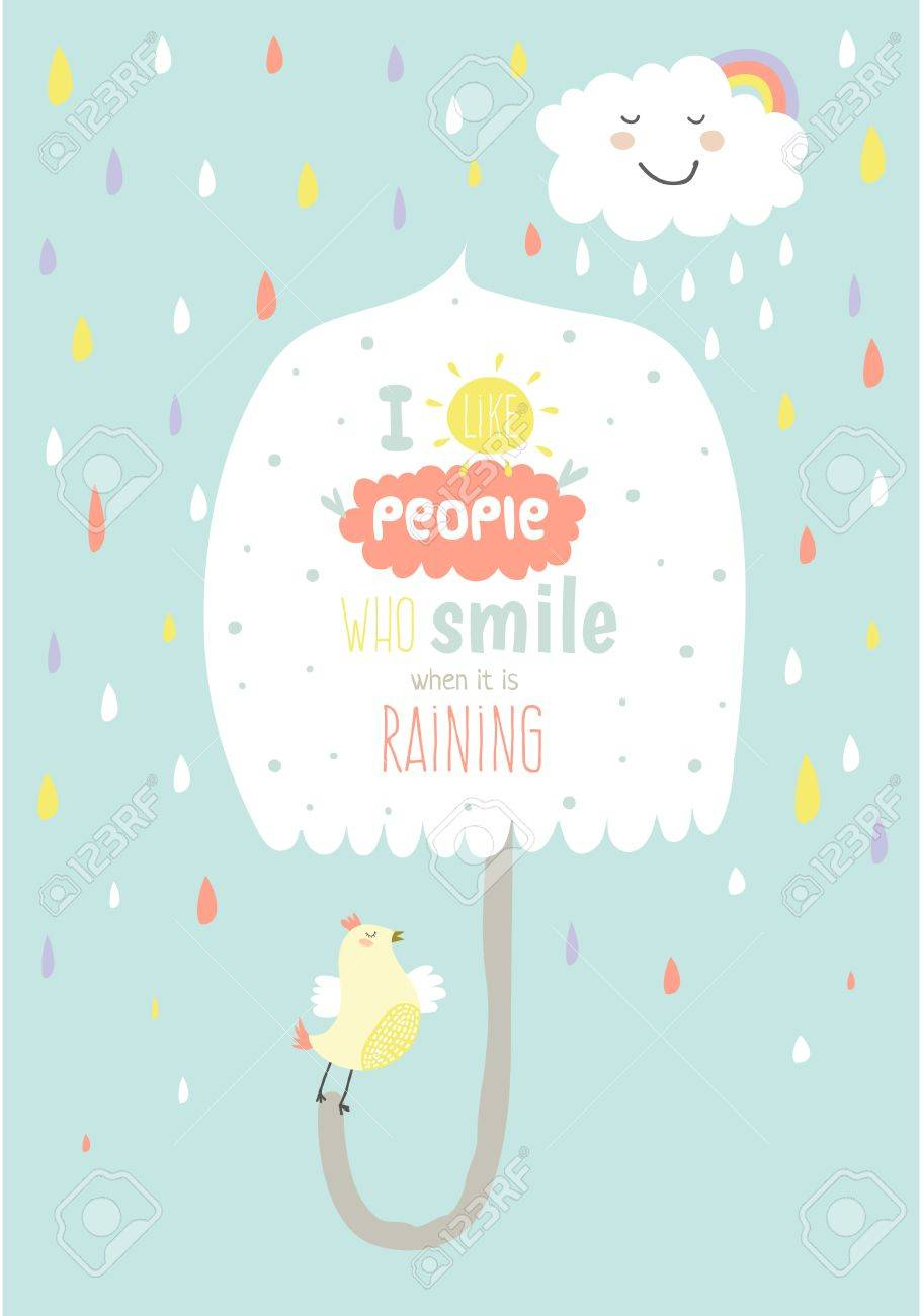 greeting card cute and funny vector illustration