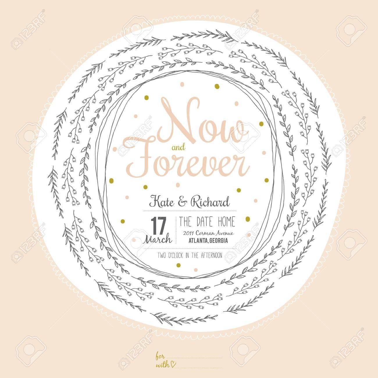 Inspirado Amor Romántico Y Reserva La Tarjeta De Invitación De La Fecha En Colores Pastel Modelo Con Estilo De La Boda El Matrimonio Invitaciones