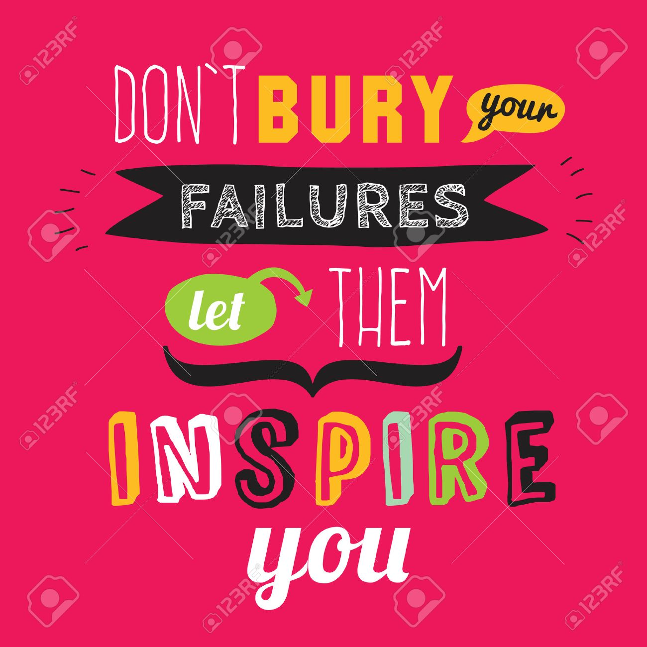 Inspirational and motivational quotes vector poster design. Stylish and modern typographic. Good for for banner and flyer, placard or card design. - 40689522