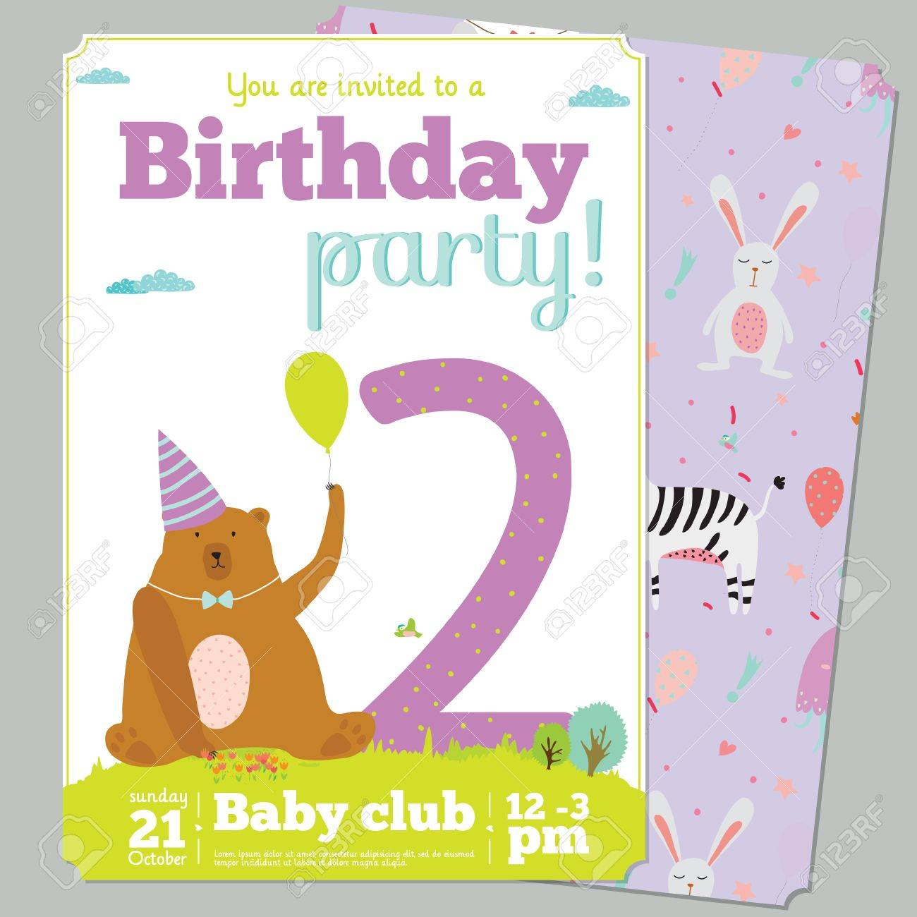 Invitation Cards For Kids Birthday Party Images - Party ...