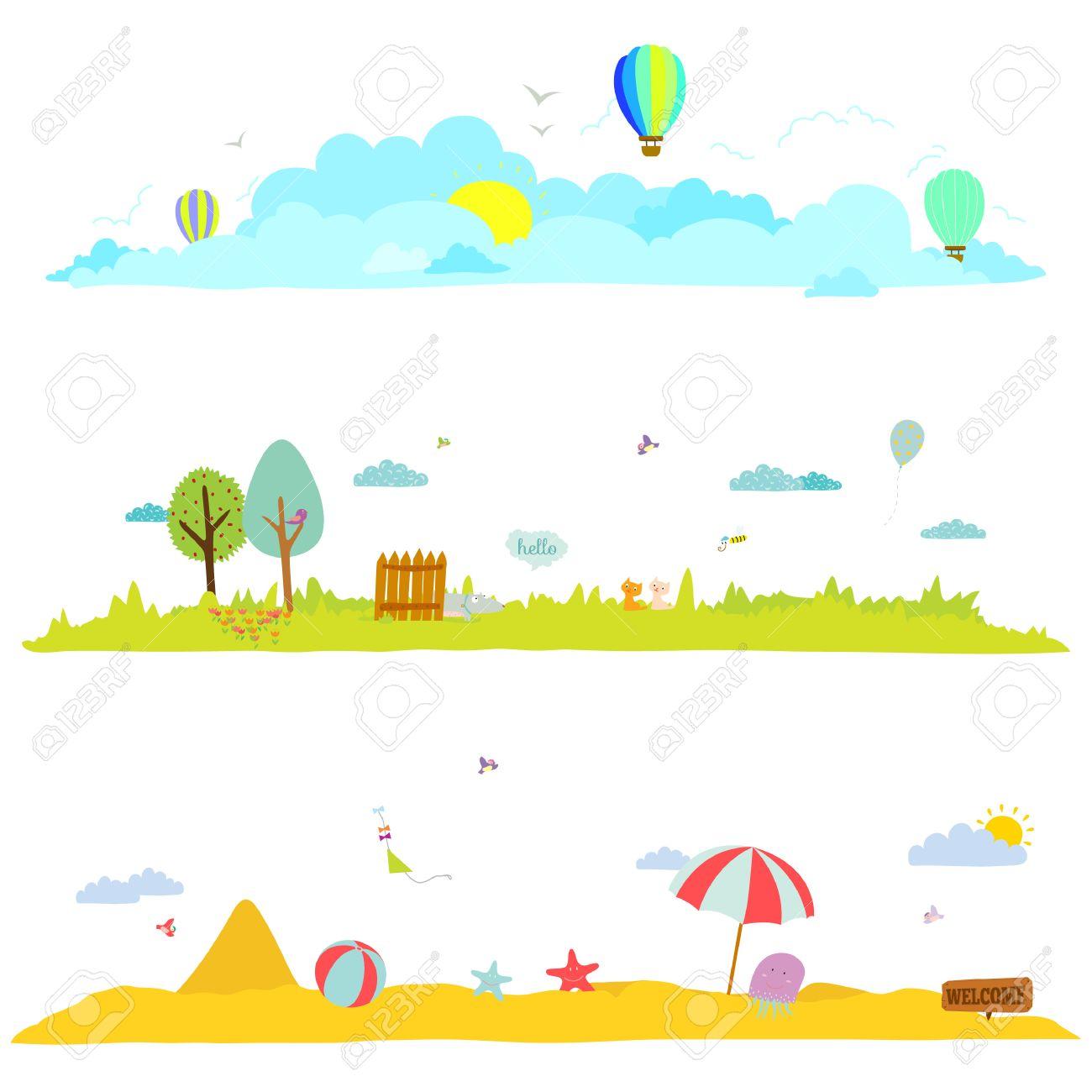 Ilustración Del Vector Banderas Para El Turismo O Campamento Para