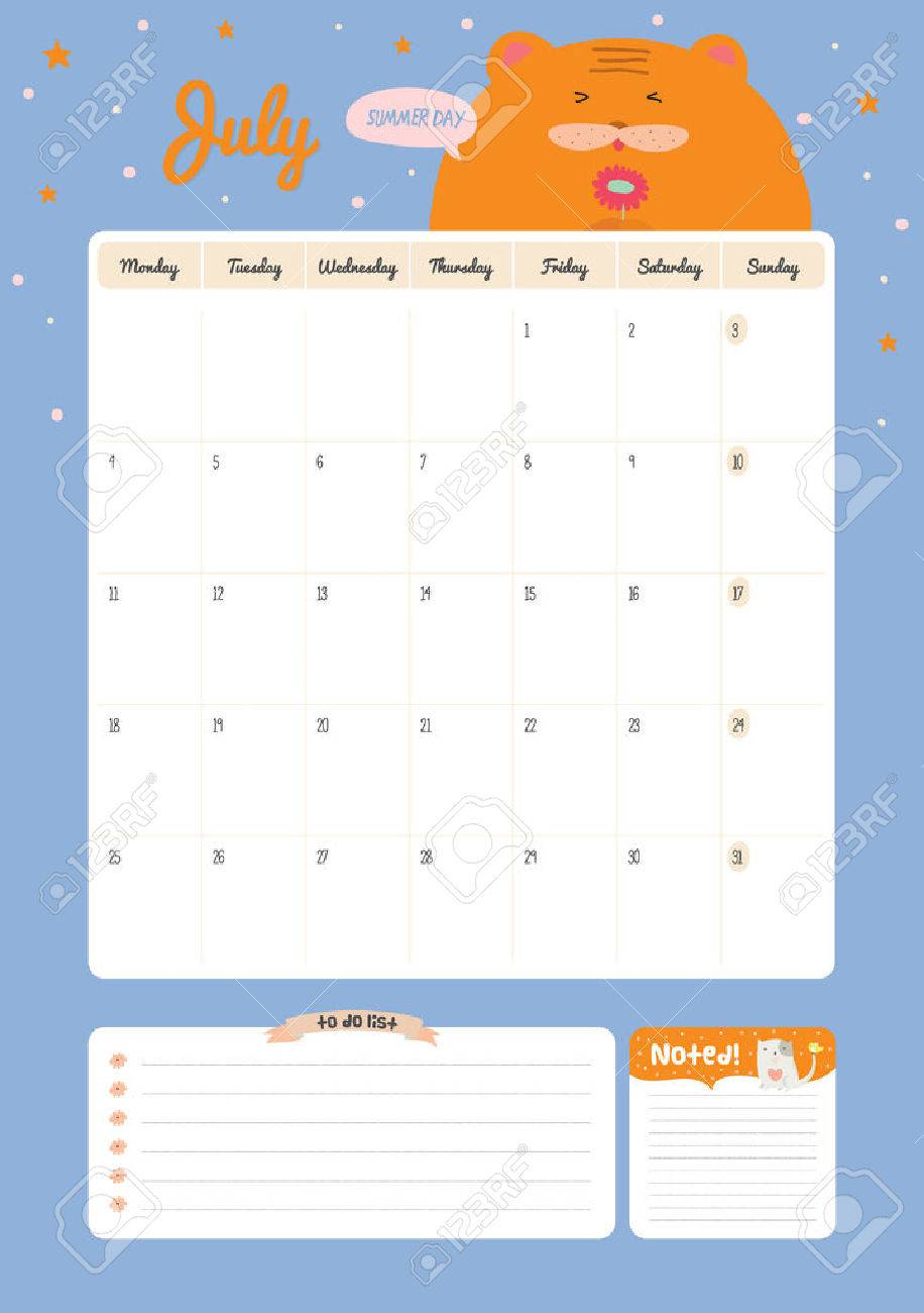 Cute calendar template for 2016 beautiful diary with vector cute calendar template for 2016 beautiful diary with vector character and funny illustrations animals maxwellsz