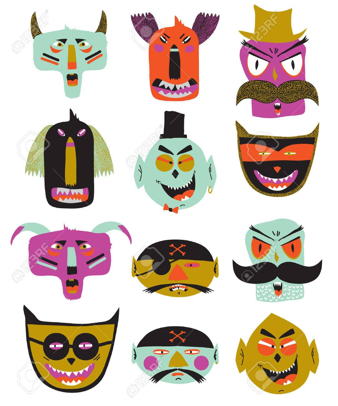 Bright Trick Or Treat Card In Vector. Stylish Halloween ...