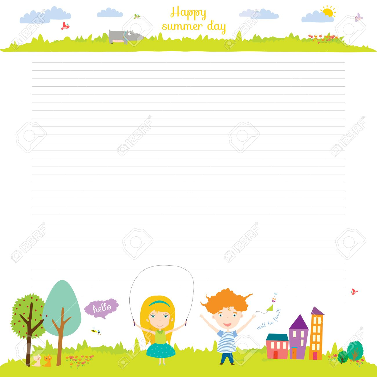 Back To School Design Cute And Cartoon Illustration Spring