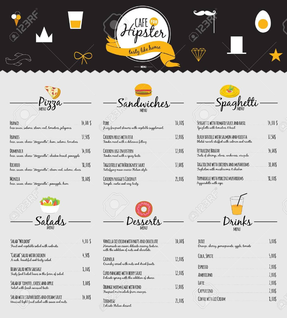 Big Logo Set Of Restaurant And Cafe Menu Design. Template Logotype ...