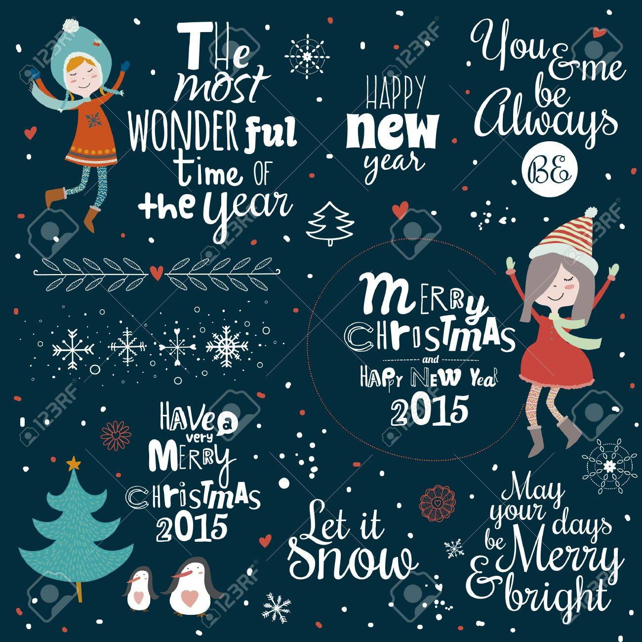 Vintage Frohe Weihnachten Und Guten Rutsch Ins Kalli Und ...