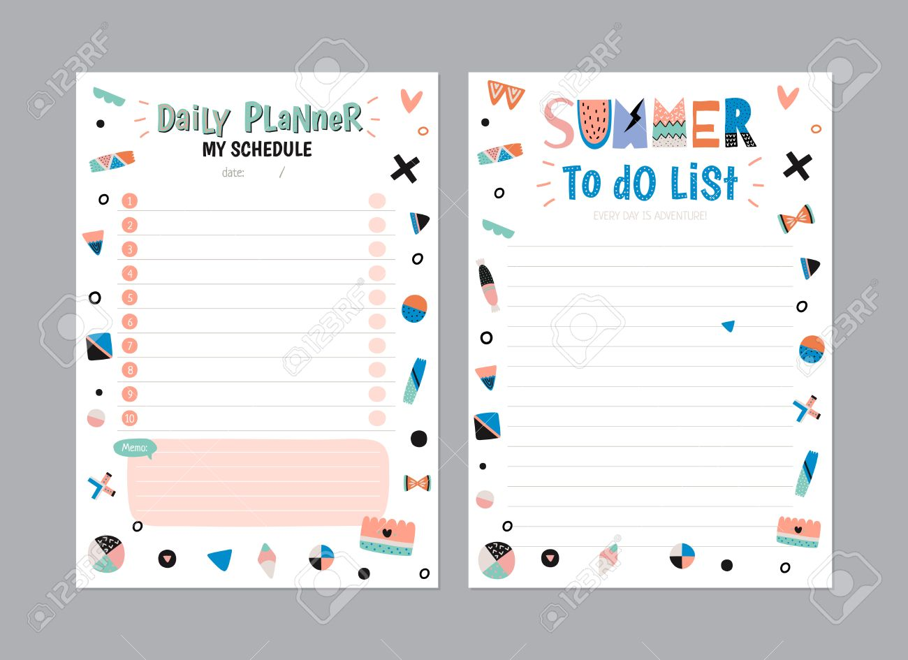 picture about Daily Planner Template called Scandinavian Weekly and Every day Planner Template. Organizer and..