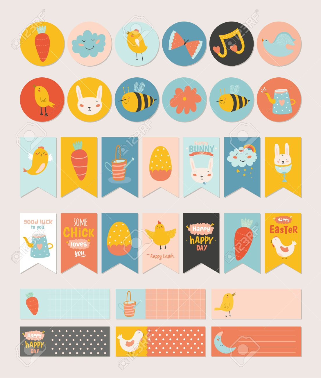 Beautiful collection of easter greeting cards gift tags stickers beautiful collection of easter greeting cards gift tags stickers and labels templates in vector m4hsunfo