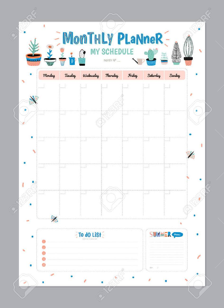 Scandinavian Weekly And Daily Planner Template. Organizer And Schedule With  Notes And To Do List  Daily Organizer Template