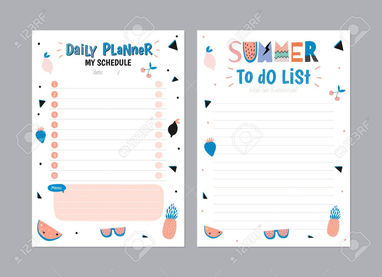 Scandinavian Weekly And Daily Planner Template Organizer And - Daily organizer template