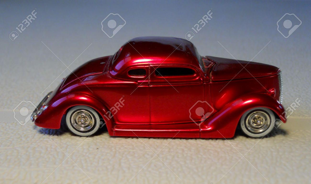 1936 AMERICAN CUSTOM HOT ROD TOY CAR Stock Photo, Picture And ...