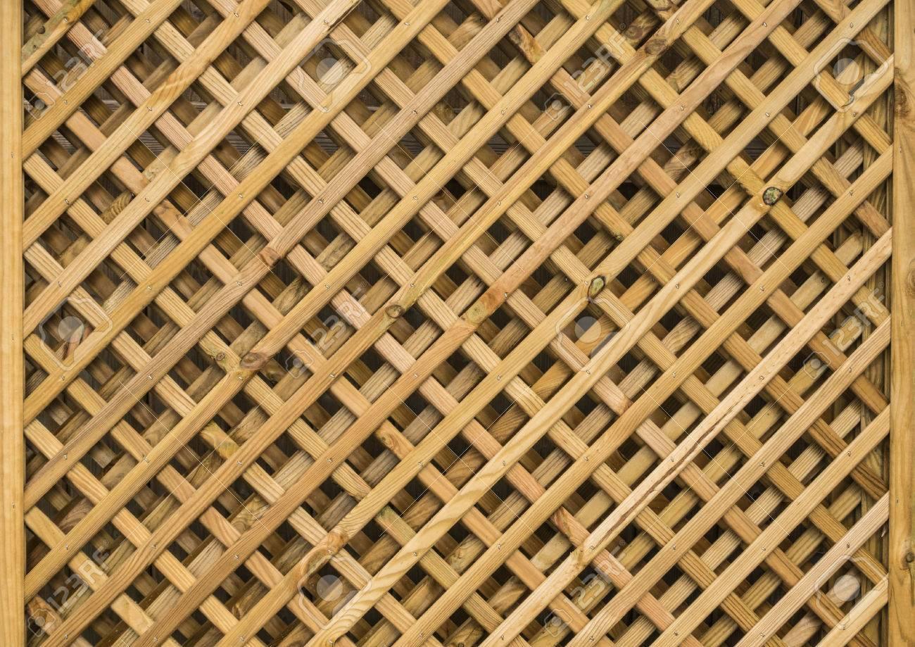 An Abstract Shot Of A Wooden Garden Trellis. Stock Photo   45010096