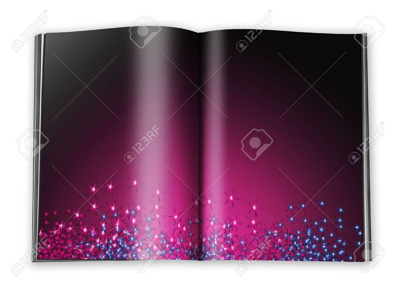 open book with empty designed pages with a paper Stock Photo - 6302944