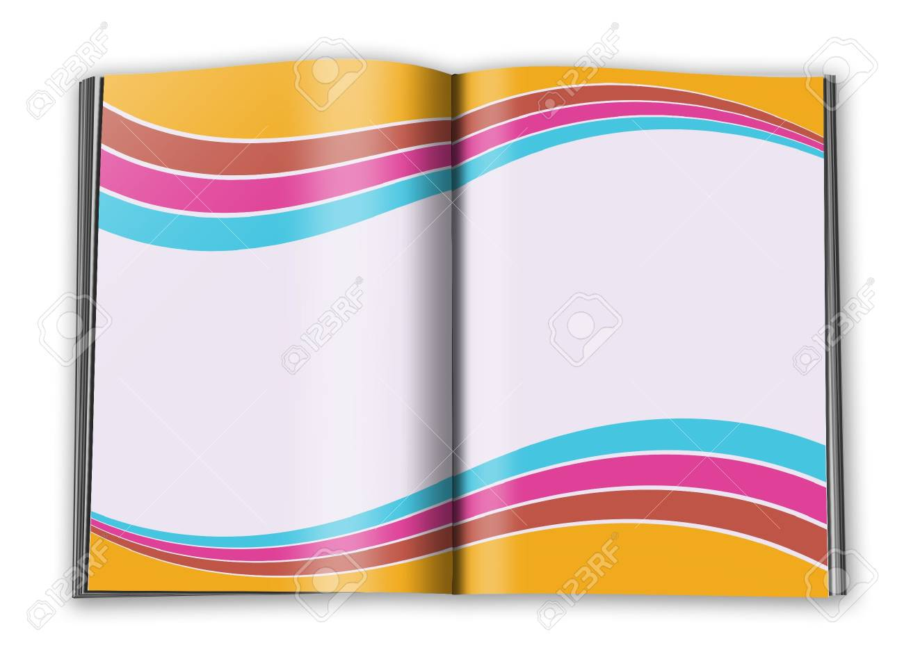 open book with empty designed pages with a paper Stock Photo - 6302938