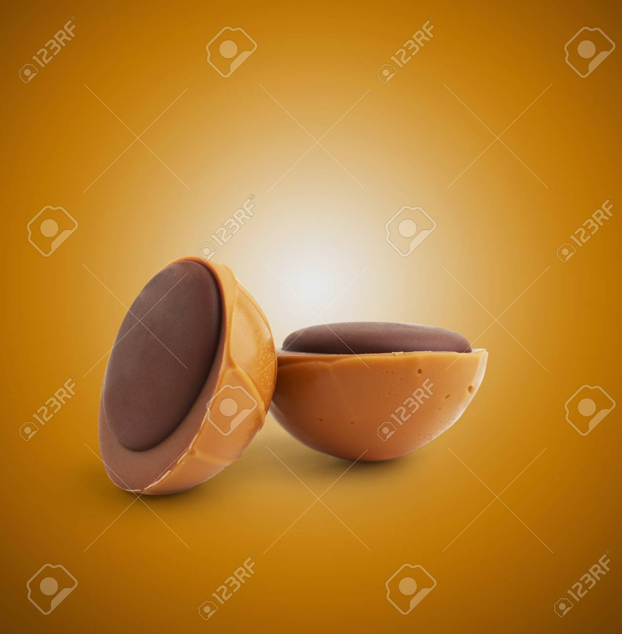 Chocolate Caramel Presented with space for text or design Stock Photo - 16564187