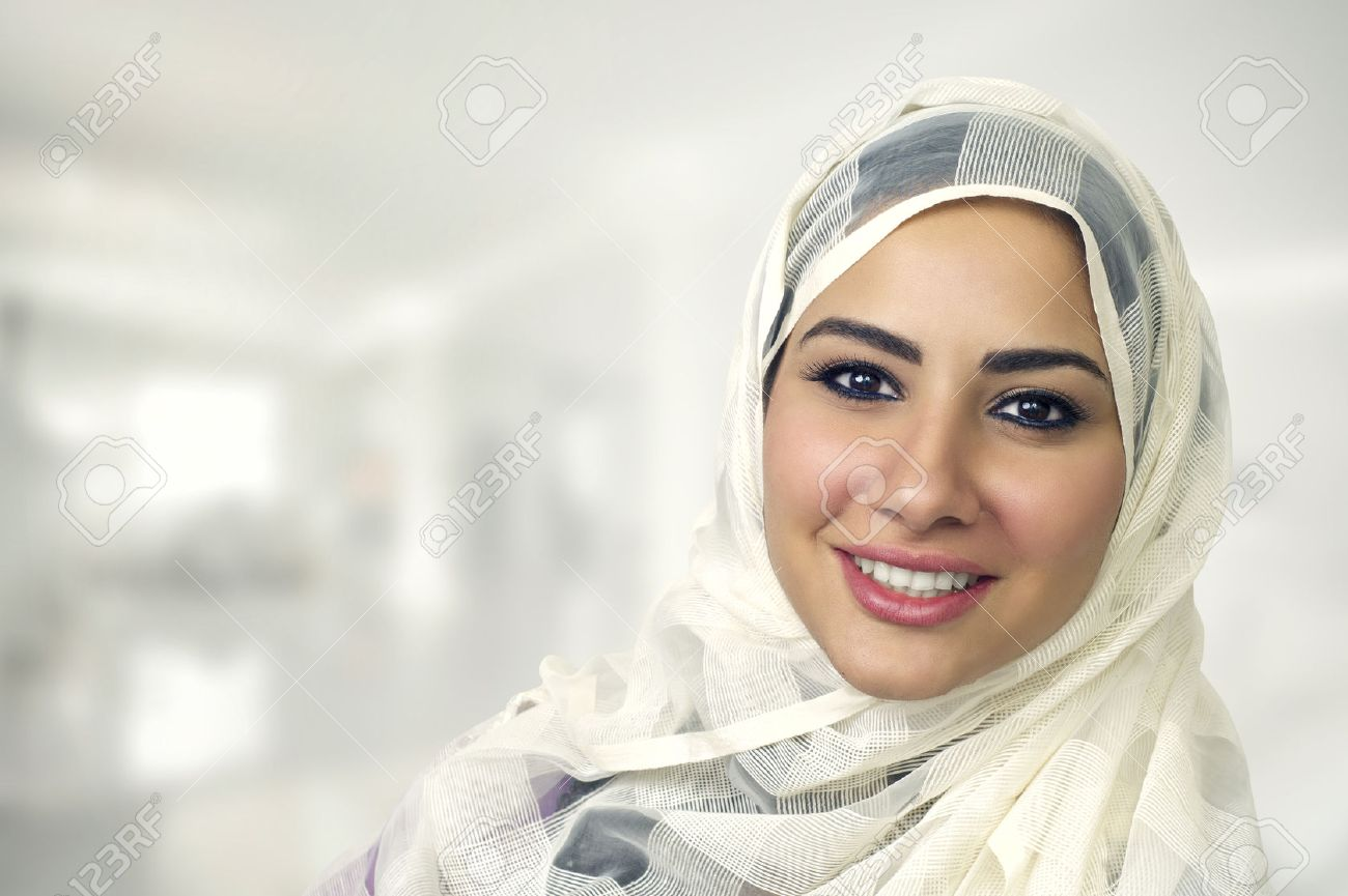 portrait of a beautiful arabian woman wearing hijab, muslim woman