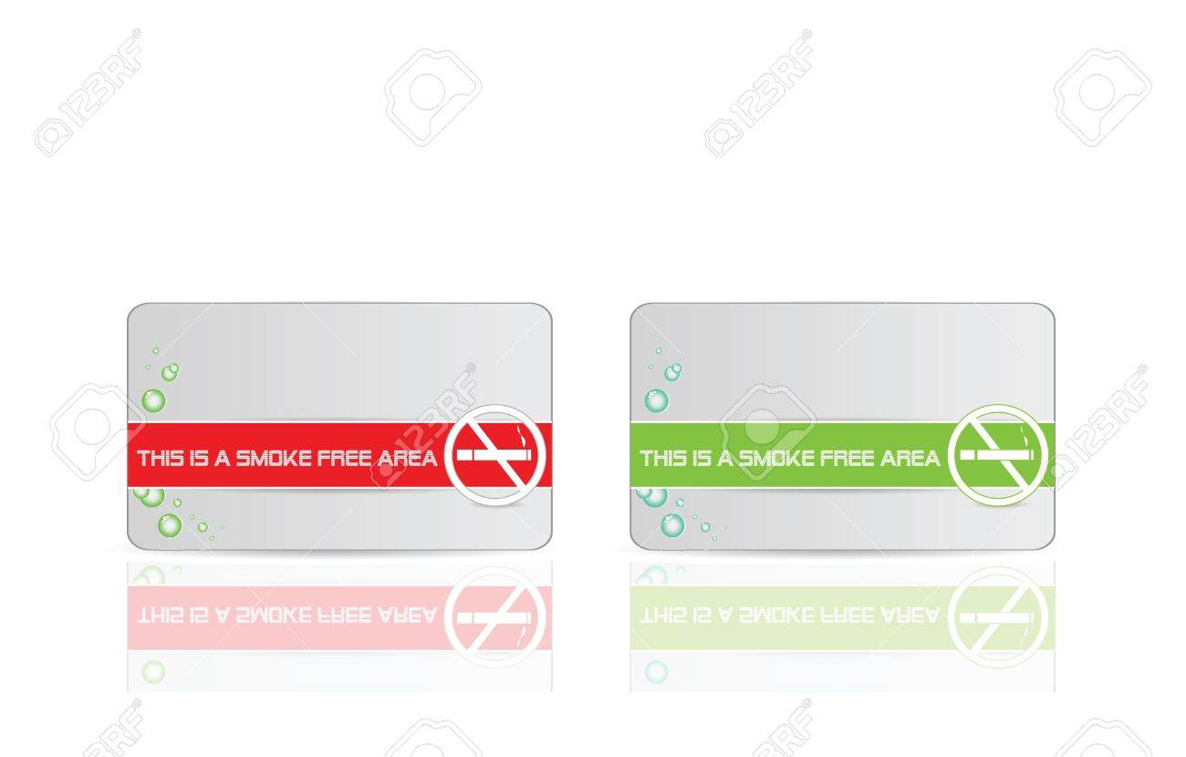 Smoke Free Area Signs Stock Vector - 12436828
