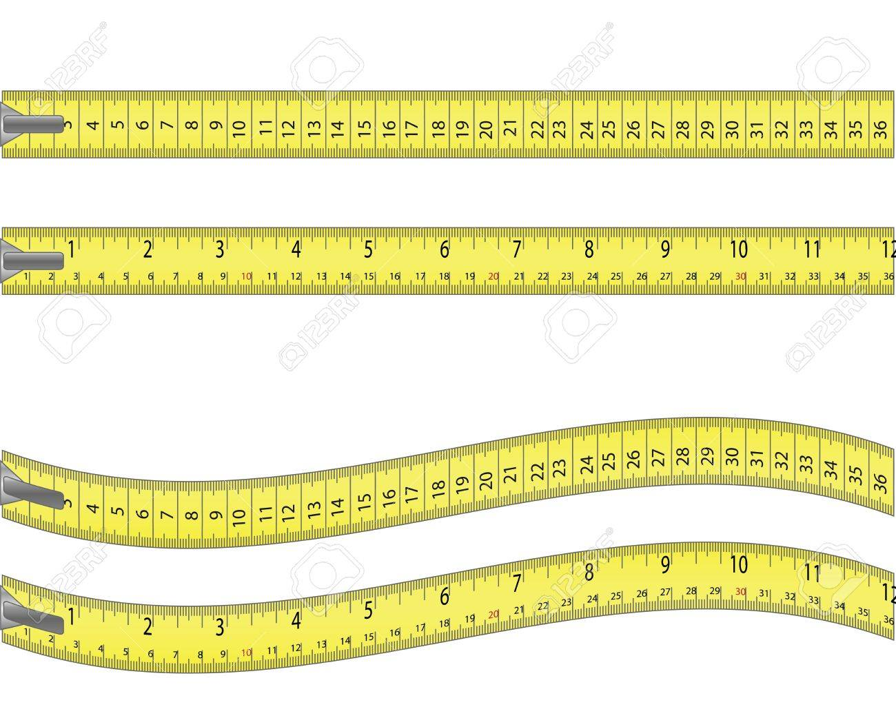 Tape measure  isolated on white Stock Vector - 12437256