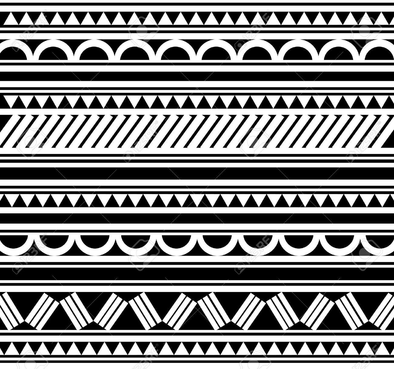 Maori   Polynesian Style tattoo  bracelet Stock Vector - 13361814