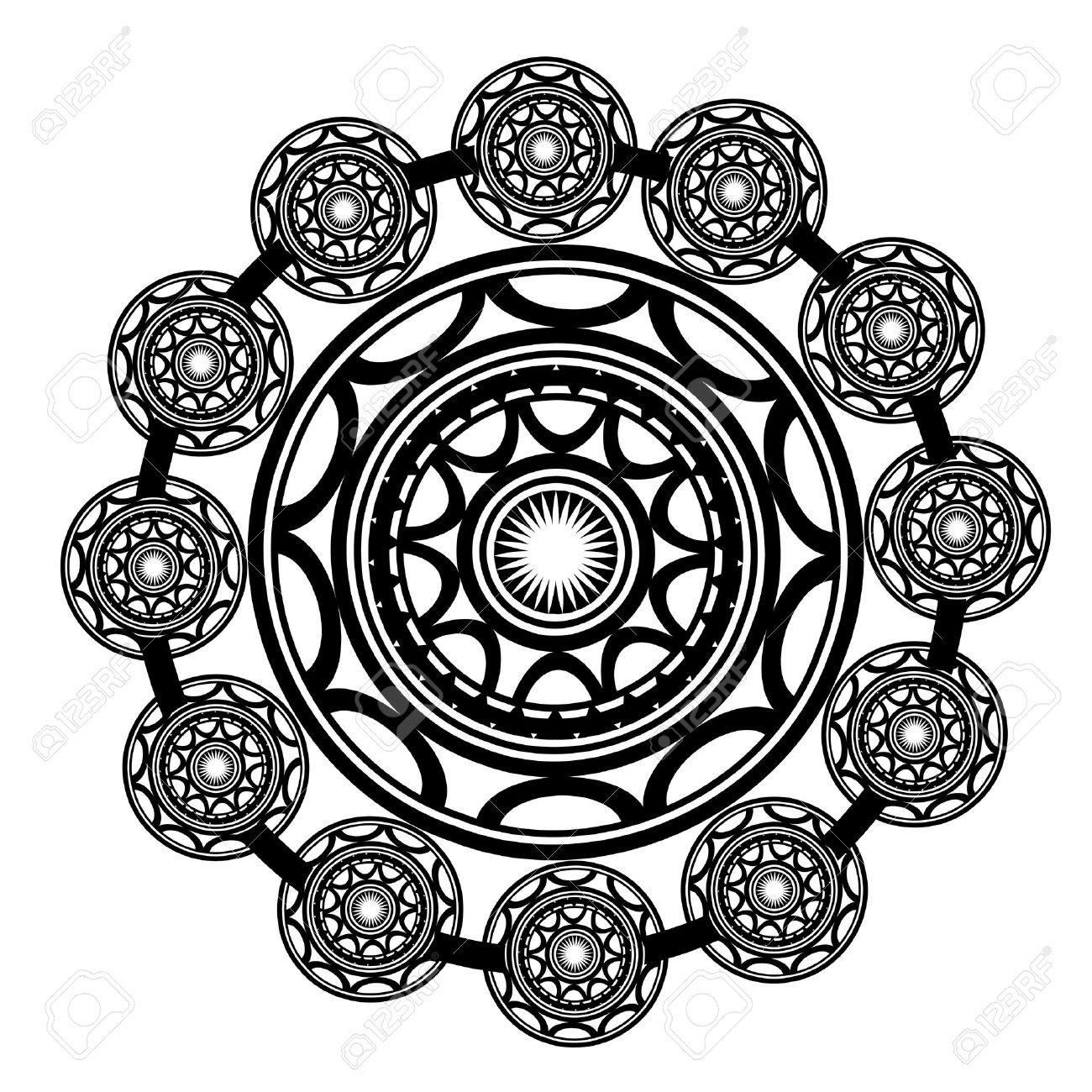 Maori   Polynesian Style tattoo Stock Vector - 13361878