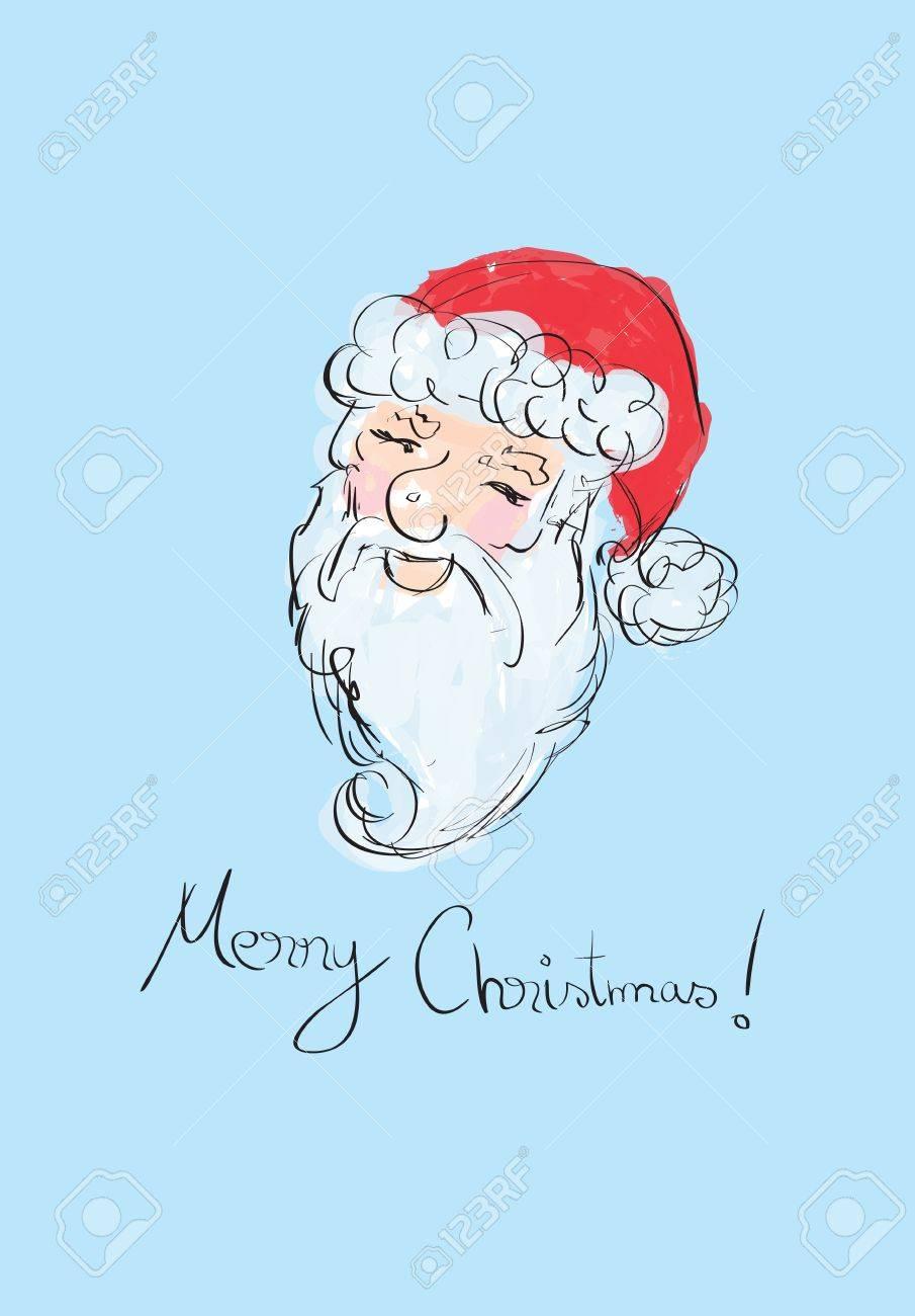 Illustration of Santa Claus sketched portrait Stock Vector - 16166409