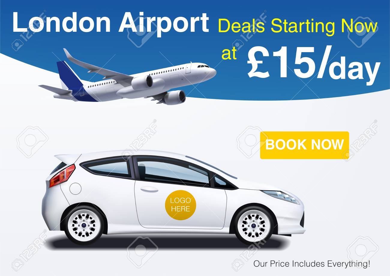 Car Rental Ad Banner Mockup For Business Promotion Royalty Free Cliparts Vectors And Stock Illustration Image 109678513