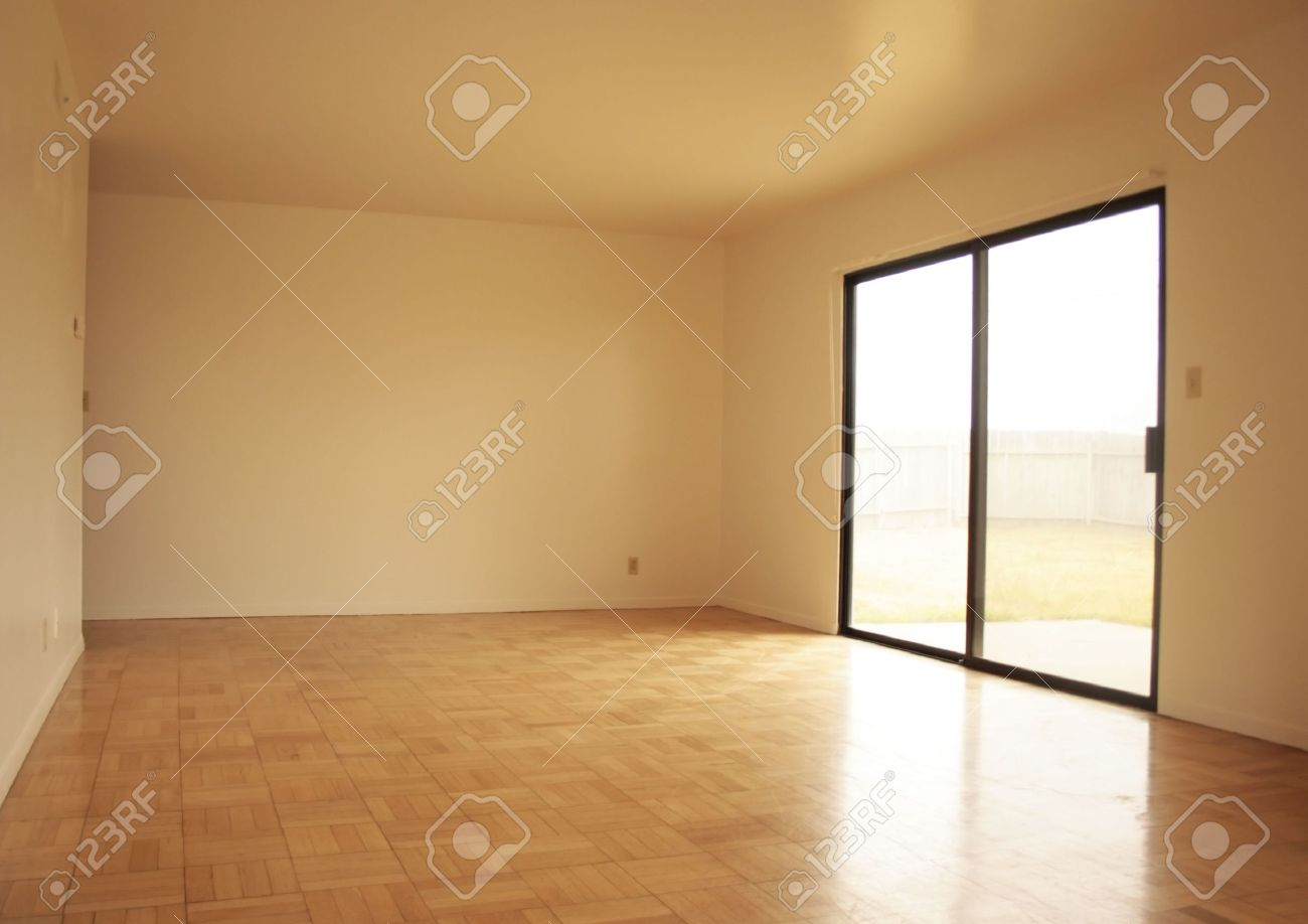 View Of An Empty Living Room Stock Photo