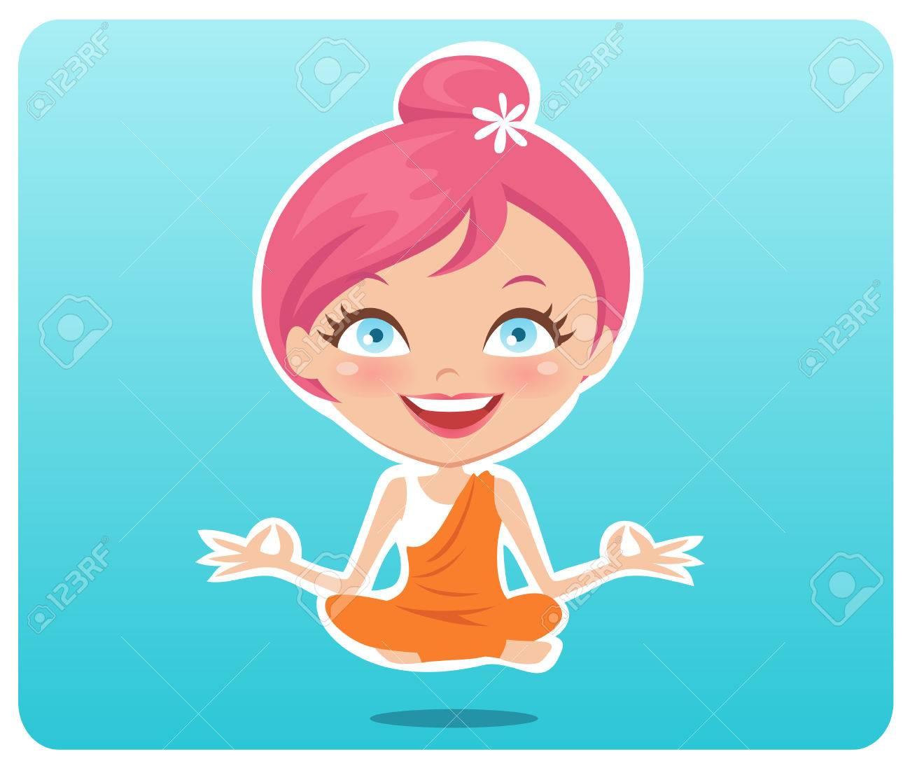 Yoga Girl Stock Vector - 7471095