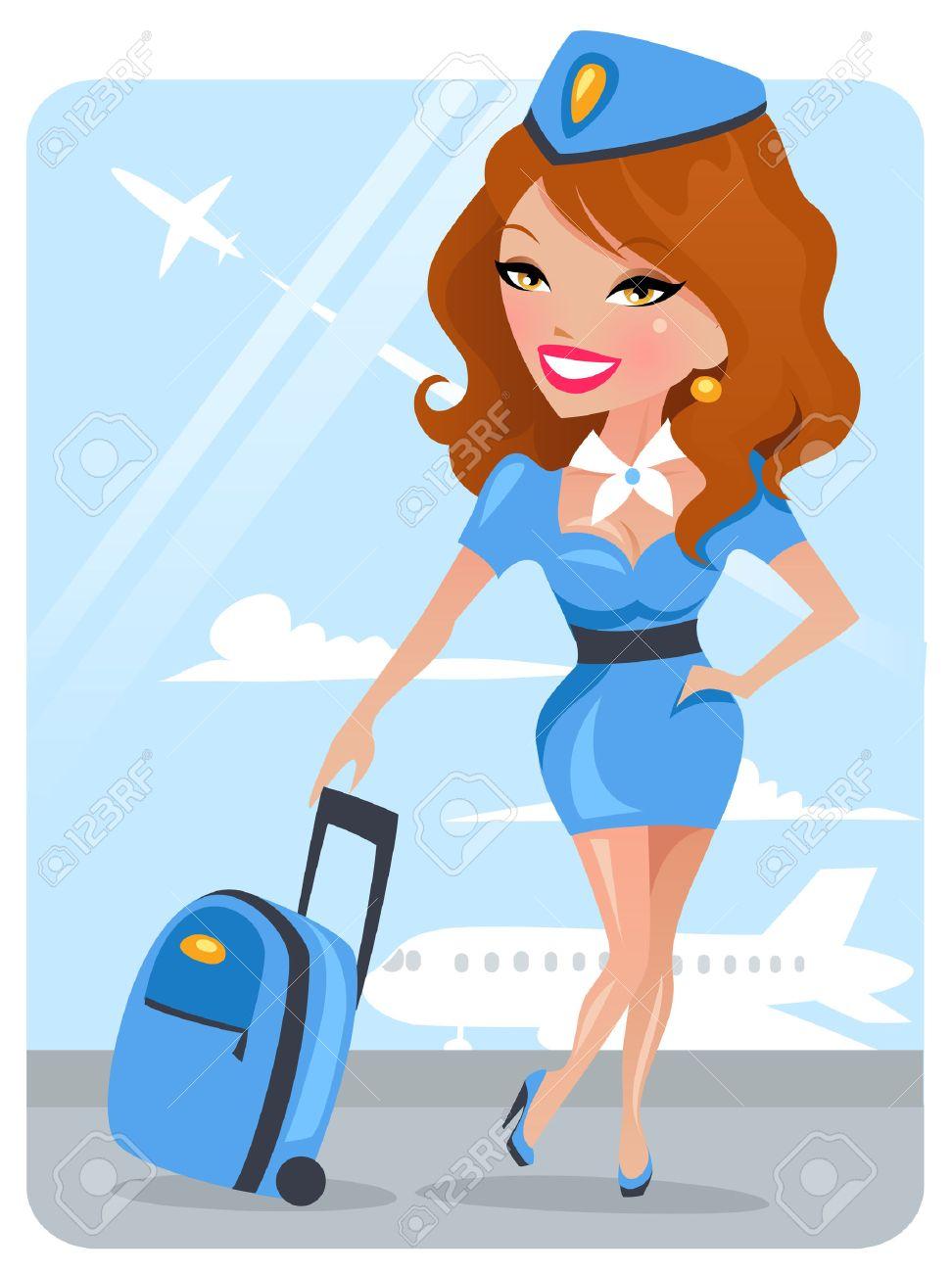 Cute Stewardess - 7639649