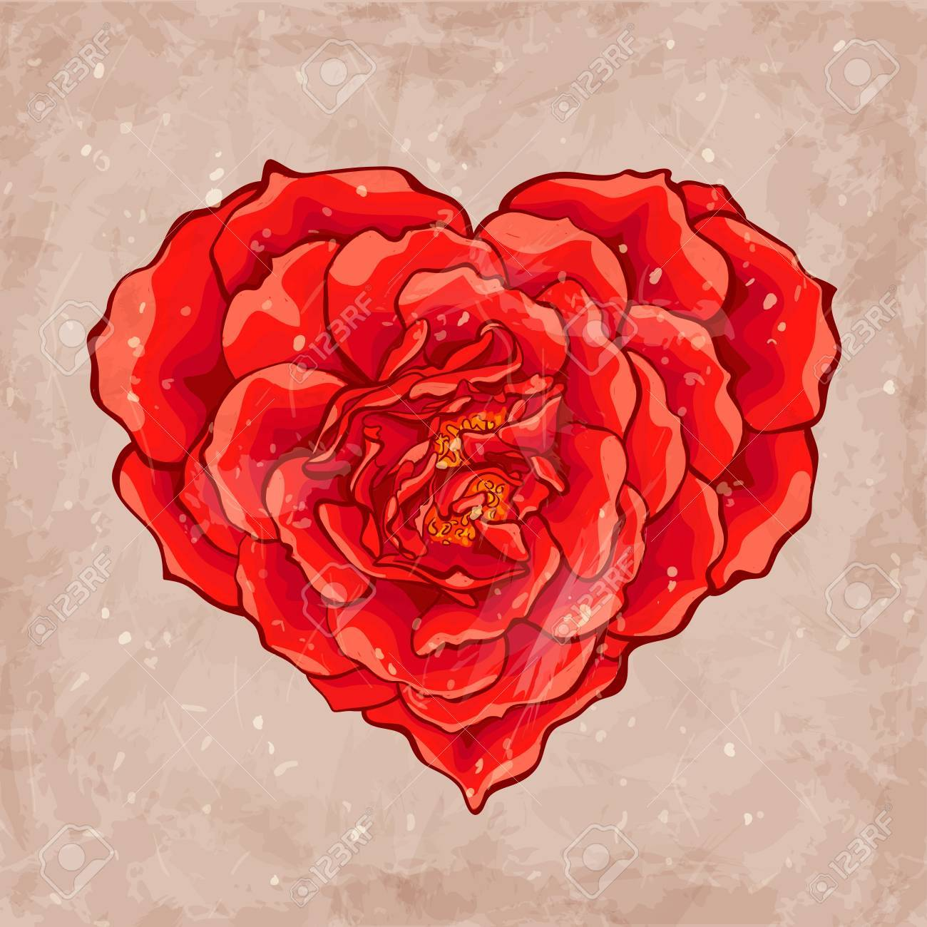 Red rose heart - 18305085