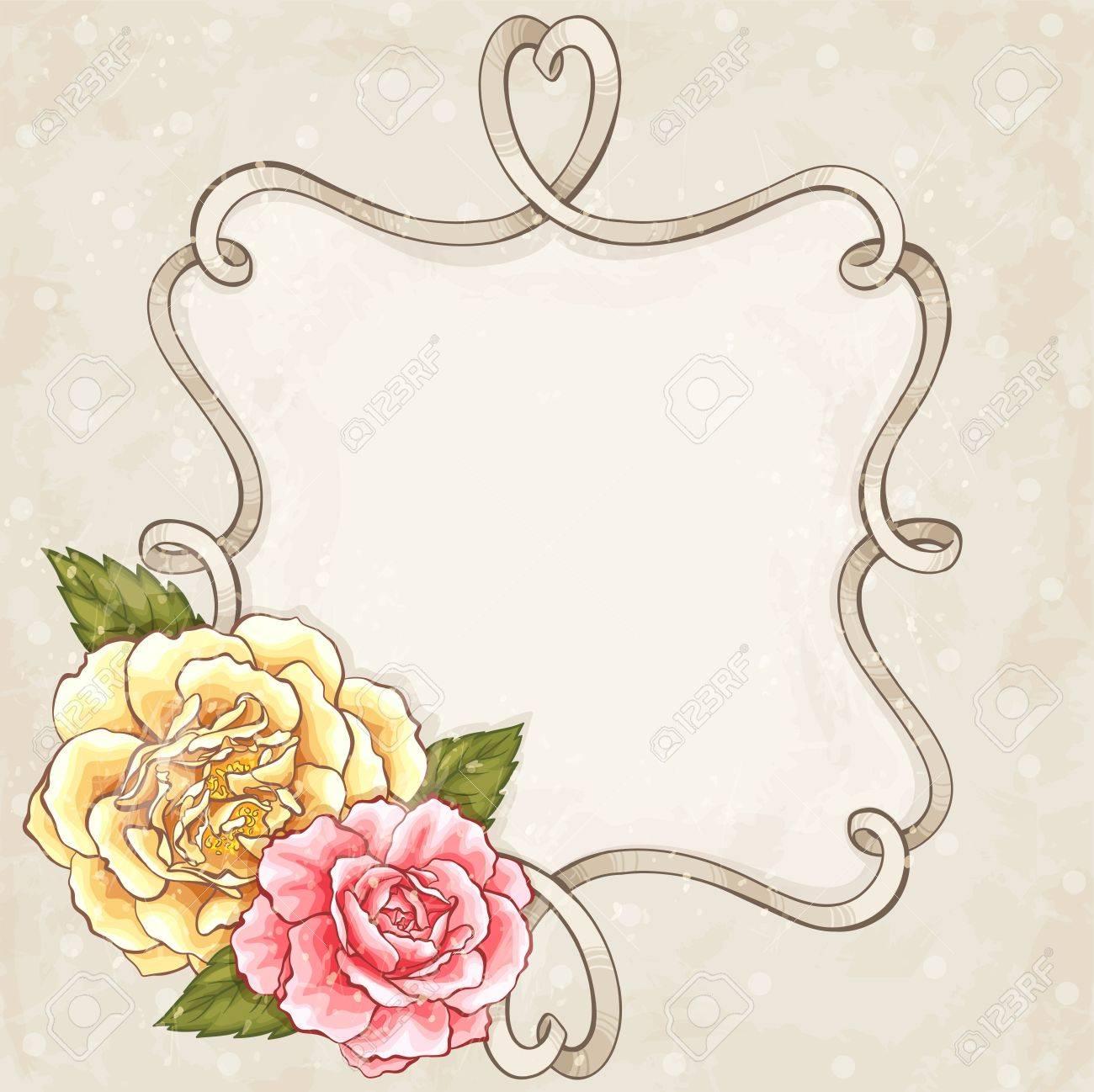 Roses frame - 18305084