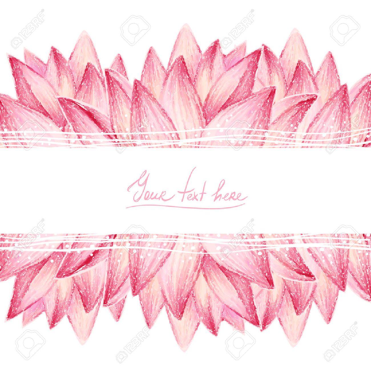 Pink lotus flower design card - 30447808