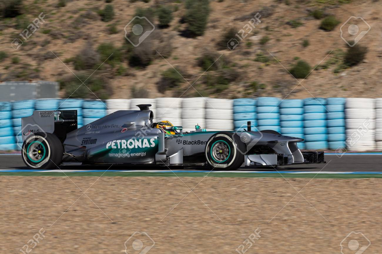 Jerez De La Frontera Spain February 08 Lewis Hamilton Of Stock