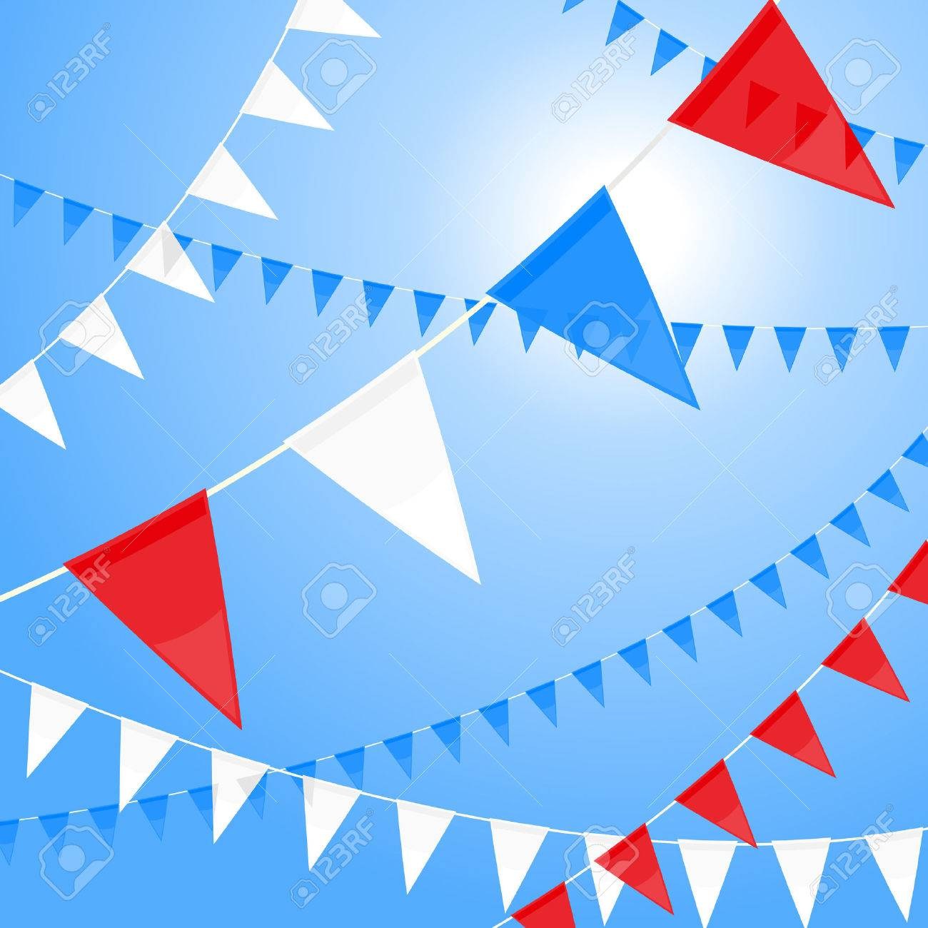 Red white and blue pennants Stock Vector - 4876201