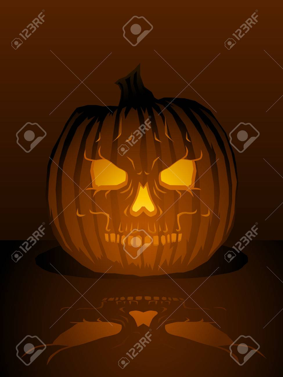 Skull Jack O Lantern Illustration Royalty Free Cliparts Vectors And Stock Illustration Image 5319336