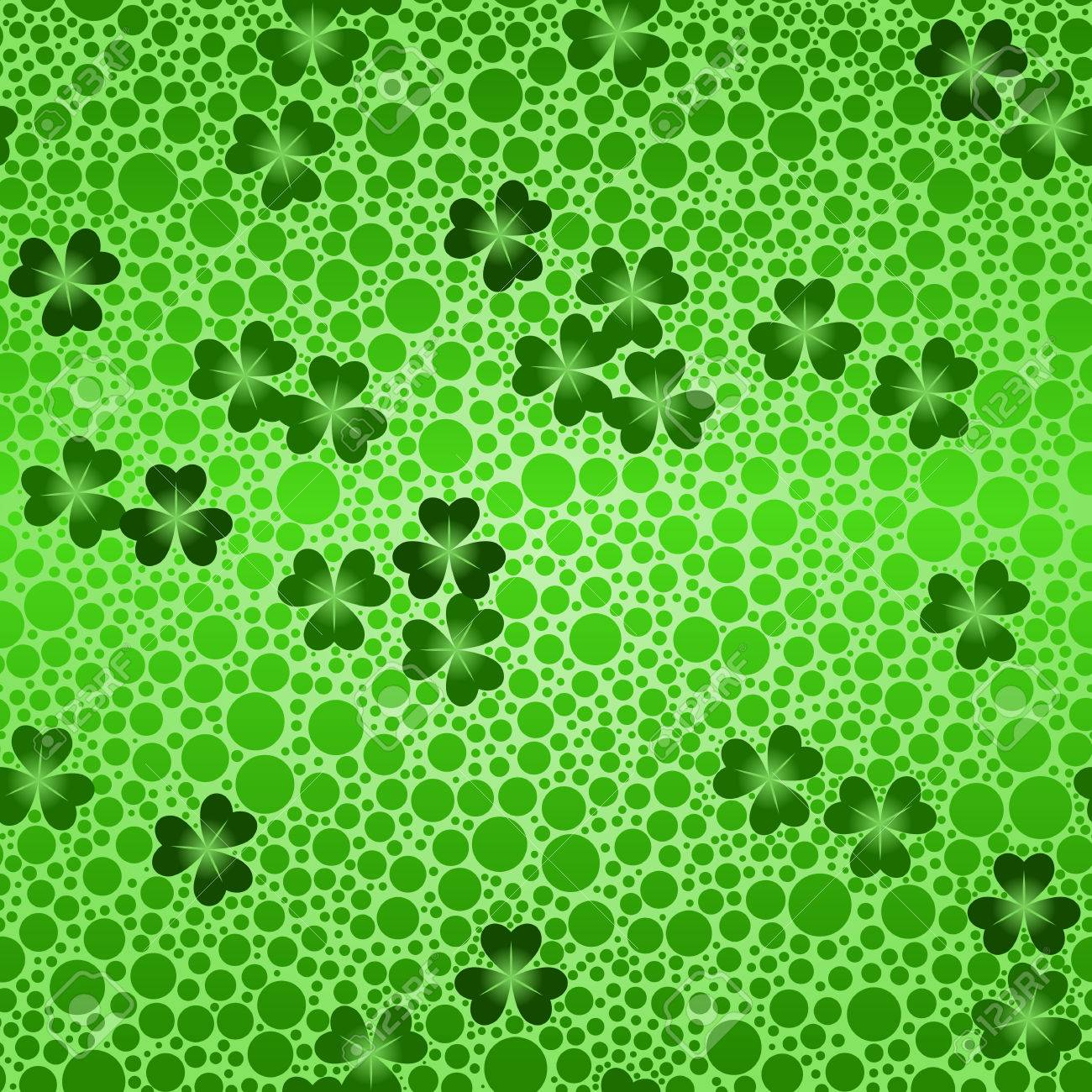 Green seamless shamrock beer background Stock Vector - 5991084