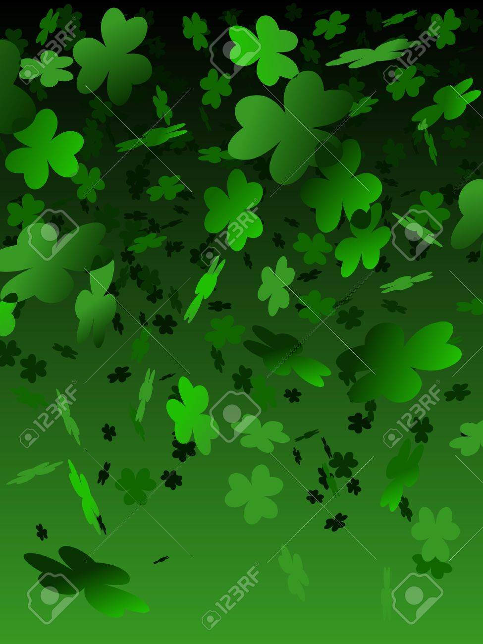 green shamrock background royalty free cliparts vectors and