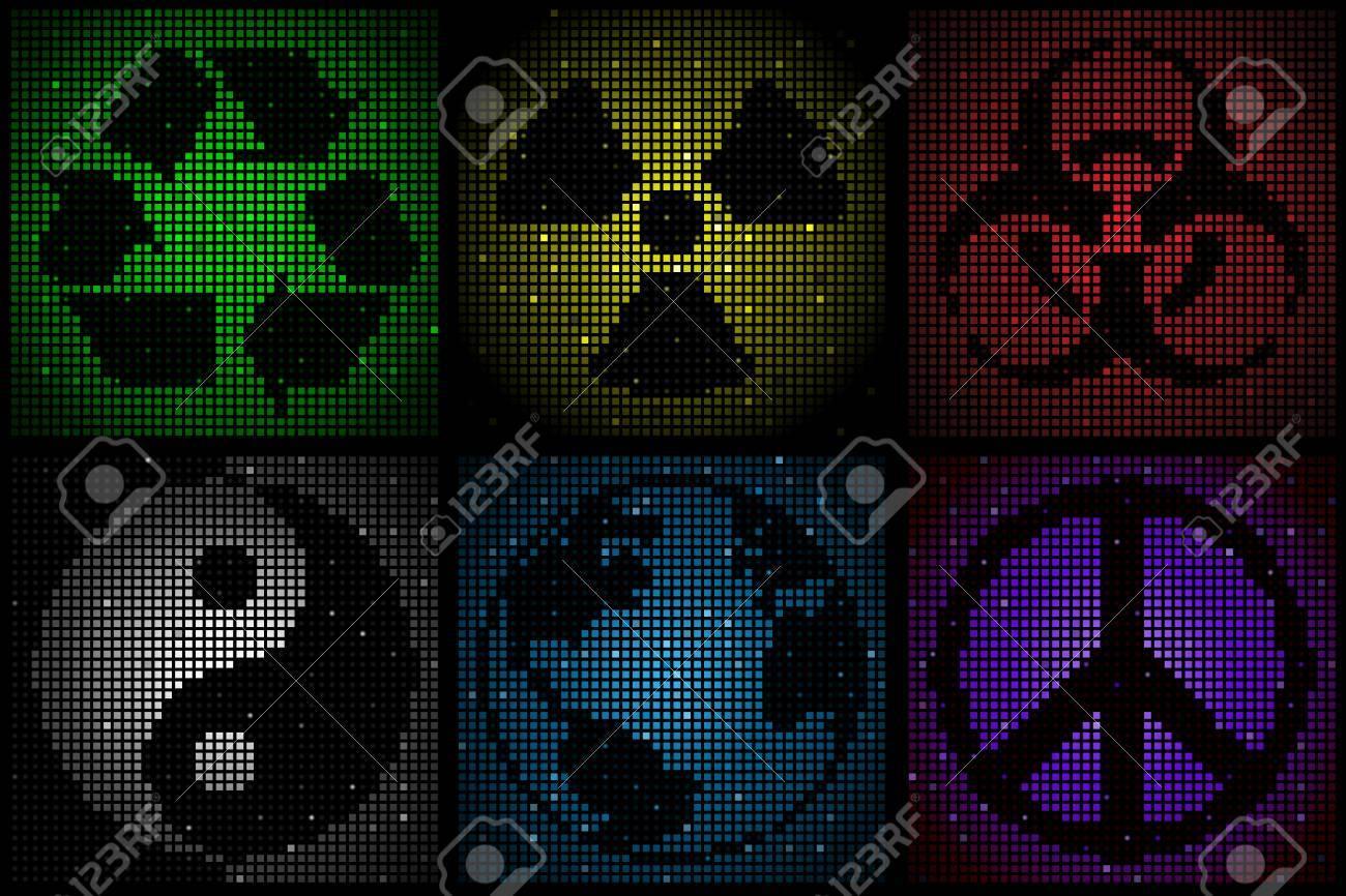 mosaic symbols Stock Vector - 6656734