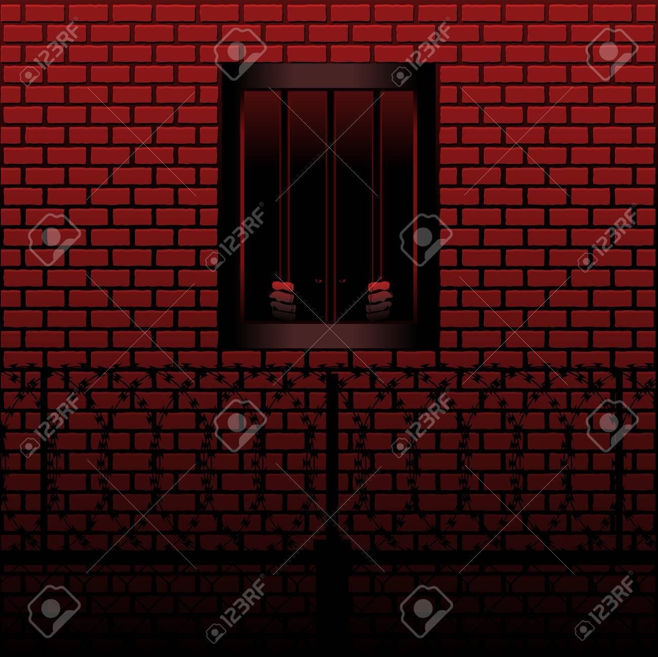 Convict in jail cell Stock Vector - 6981916