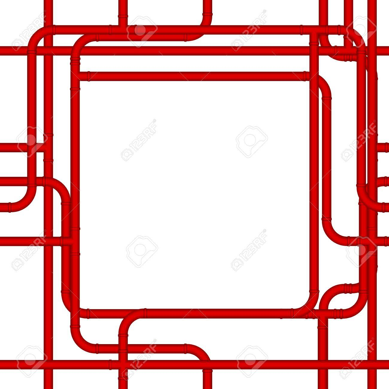 pipe frame stock vector 7050950