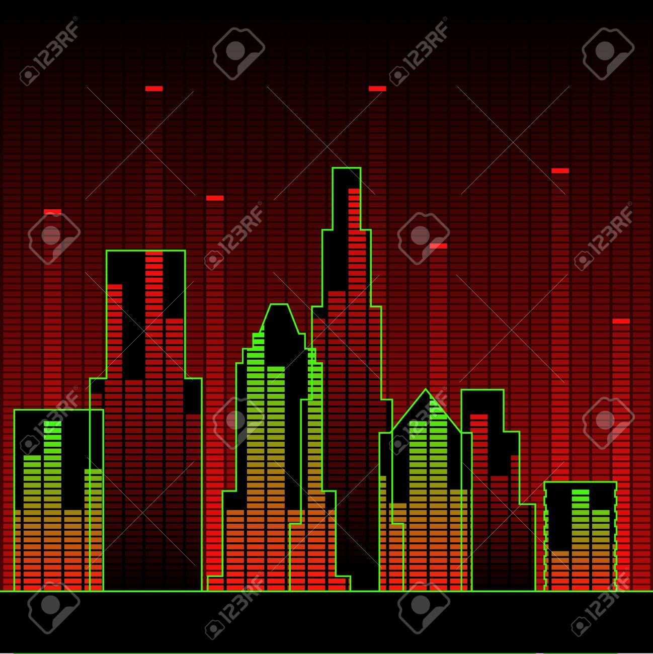 City of music Stock Vector - 7539662
