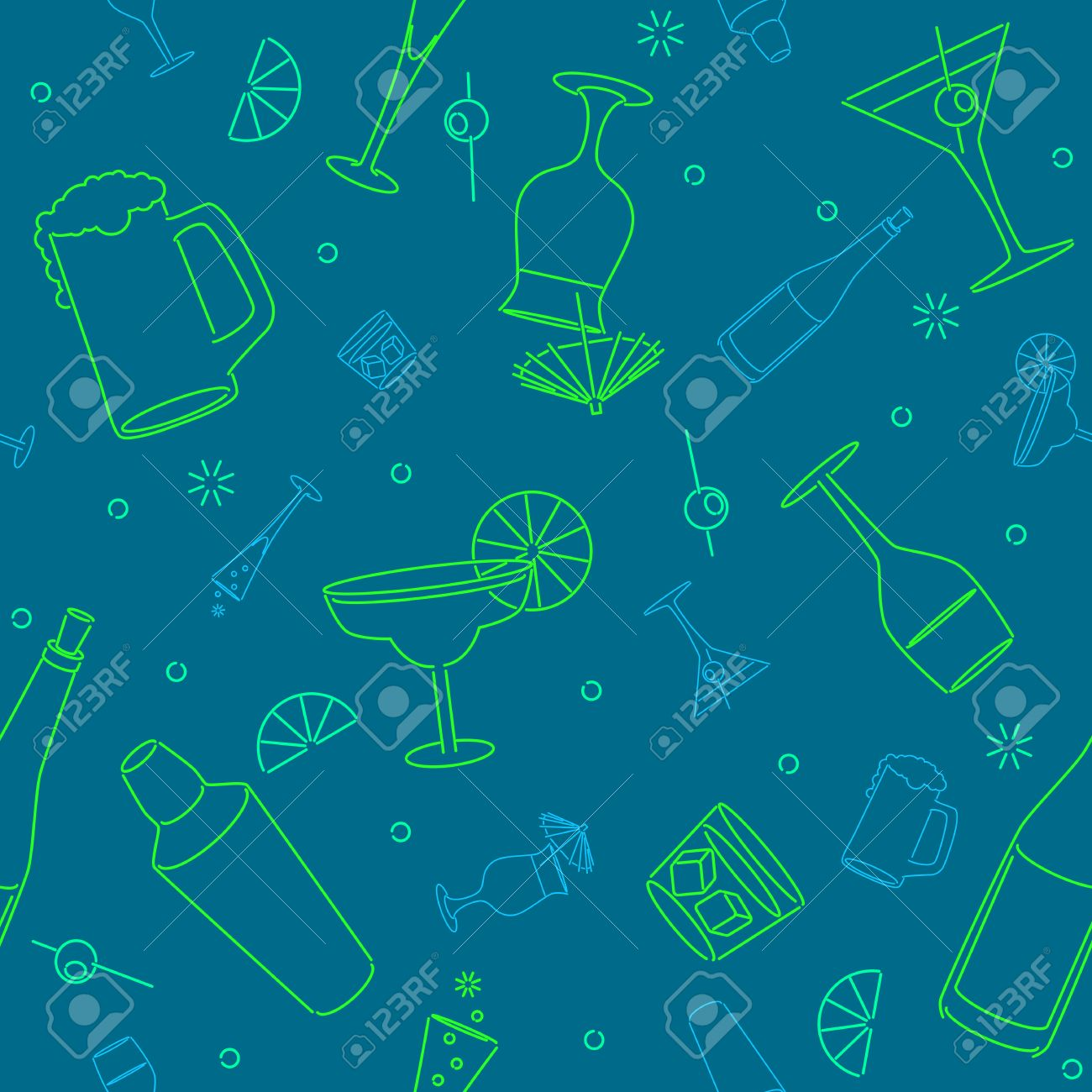 Seamless drink background Stock Vector - 8011602