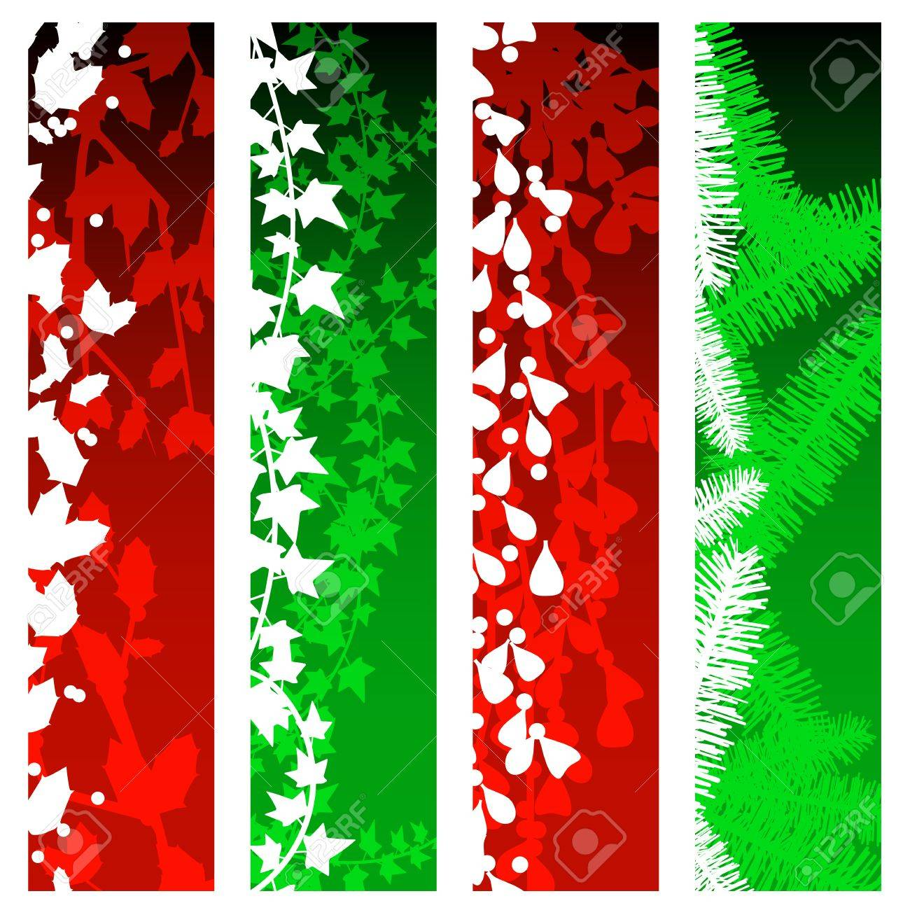 Christmas greenery banners Stock Vector - 8257398