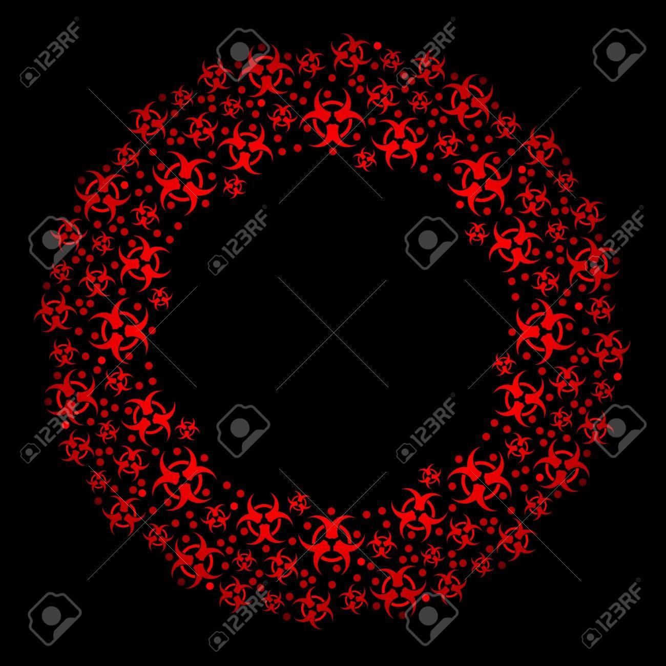 Biohazard wreath Stock Vector - 8341697