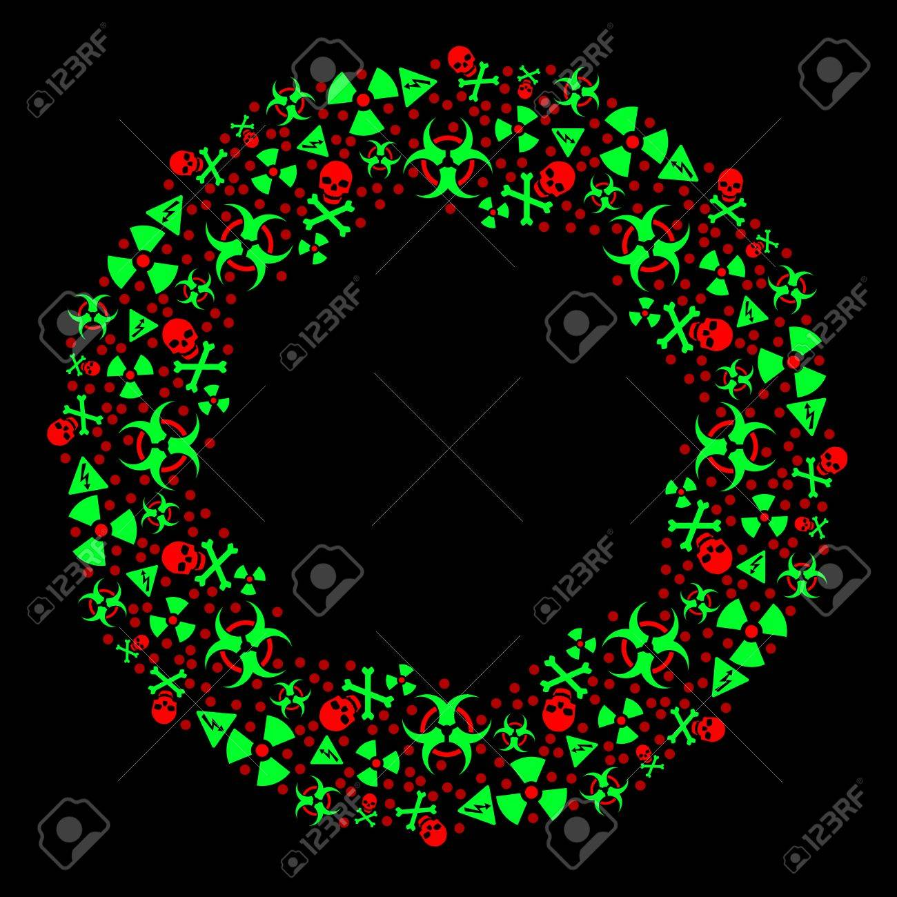 Goth warning Christmas wreath Stock Vector - 8341688