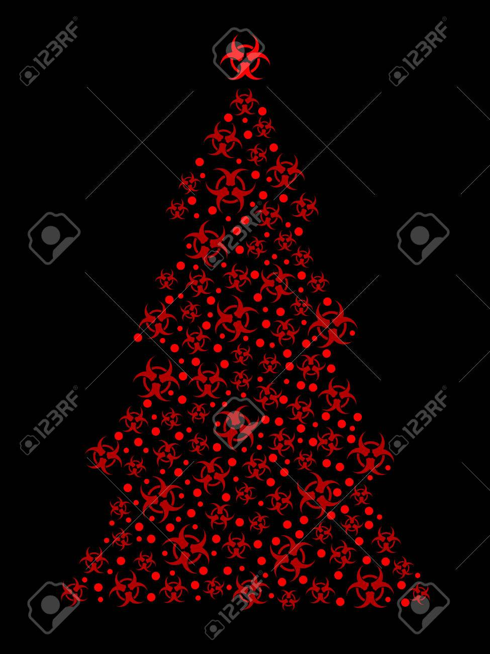 Biohazard Christmas tree Stock Vector - 8380335