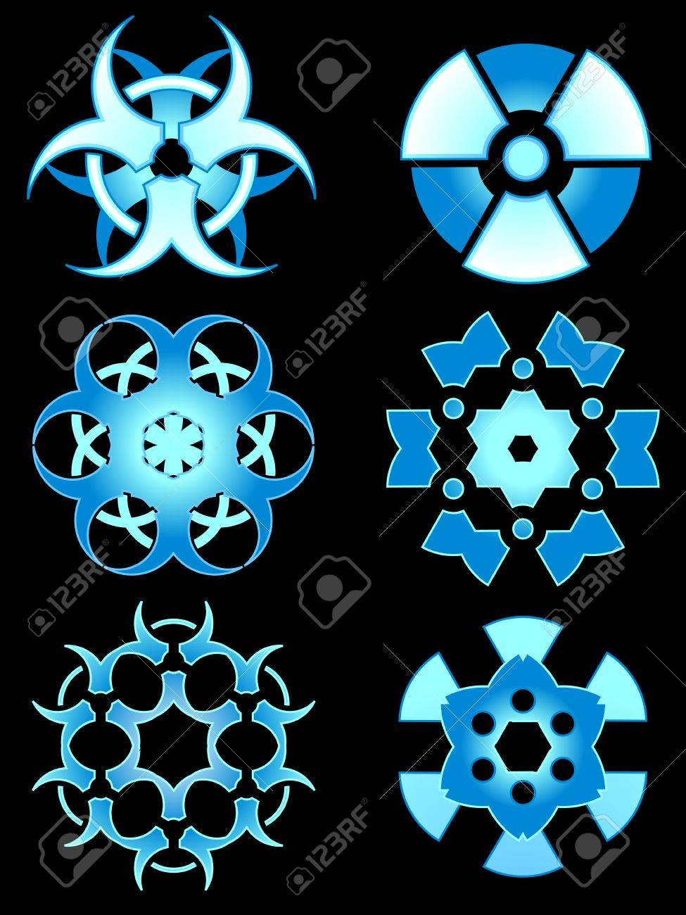 Hazardous snow designs Stock Vector - 8380341