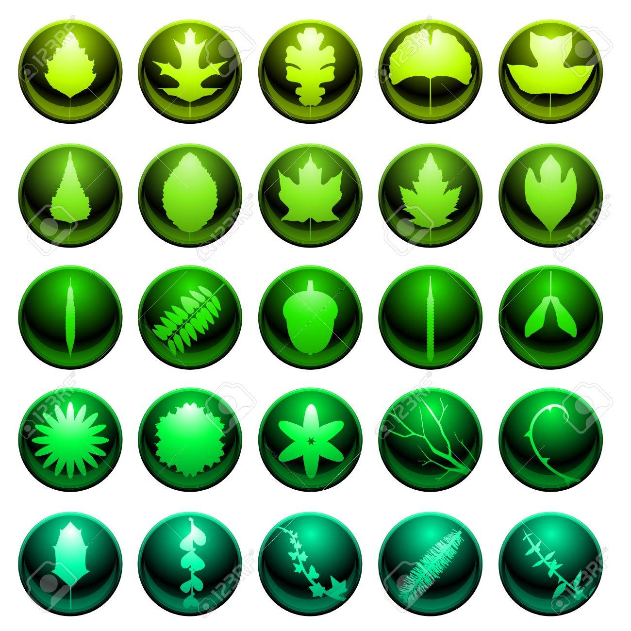Leaf icon set Stock Vector - 8756347