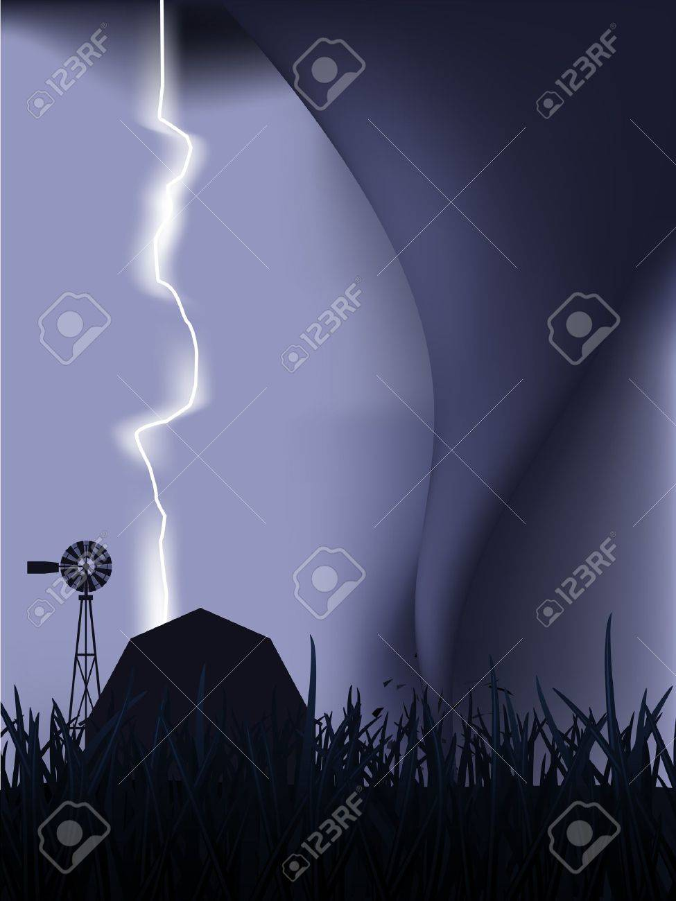 tornado and lightning royalty free cliparts vectors and stock