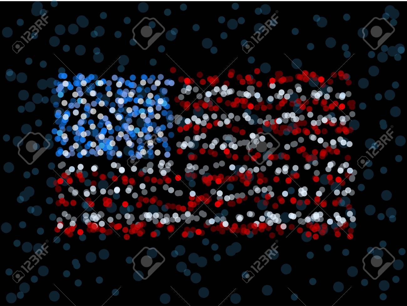 Defocused US flag Stock Vector - 9385892
